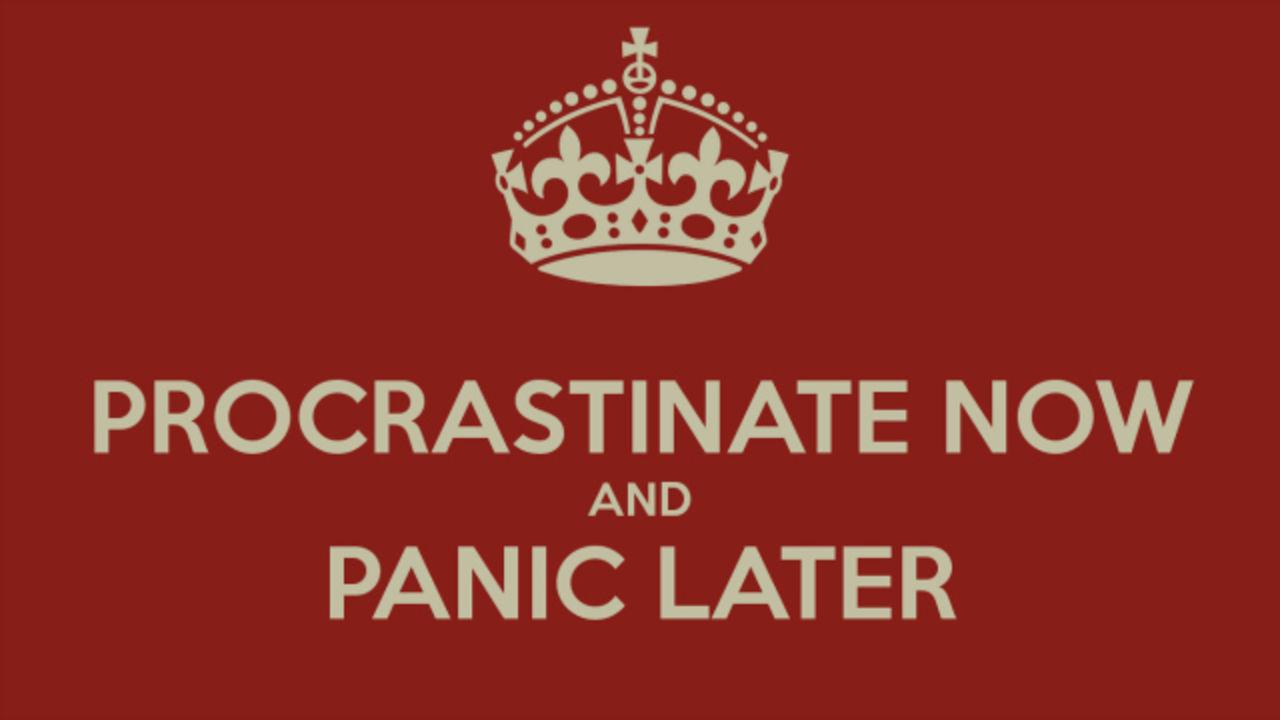 struggles of a professional procrastinator hexjam