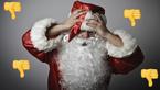 Santa grumpy
