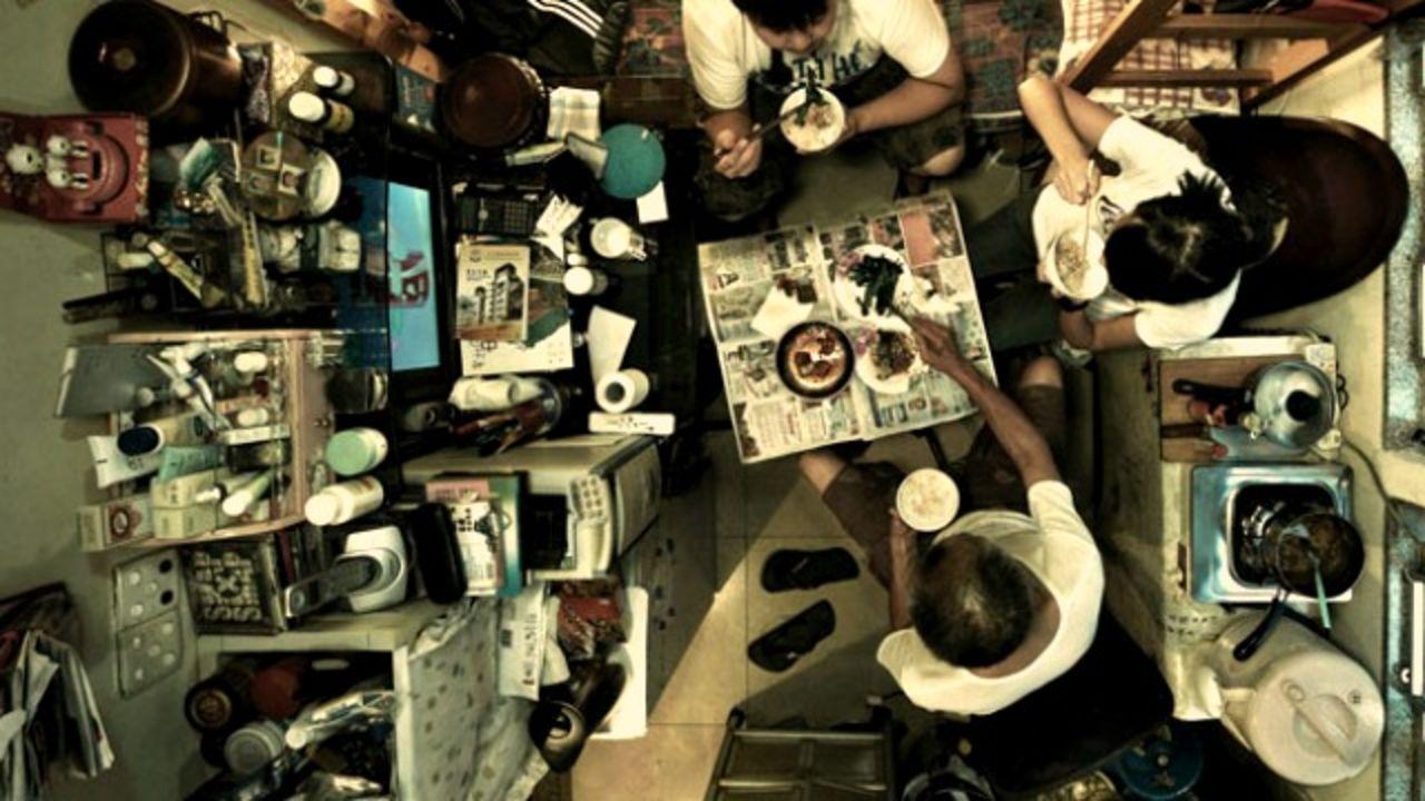 Image Cramped Apartments From Above Hong Kong