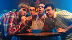 The inbetweeners. l r james buckley  blake harrison  joe harris  simon bird.