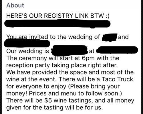 wedding wine tasting