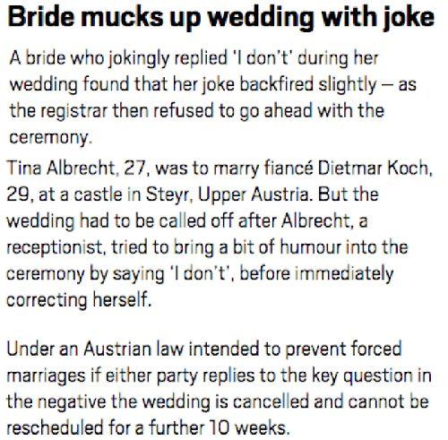 bride joke