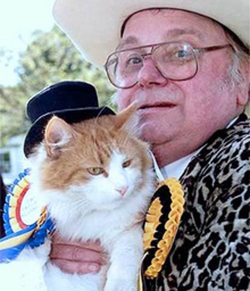Catmando, joint leader of Britain's Official Monster Raving Loony Party
